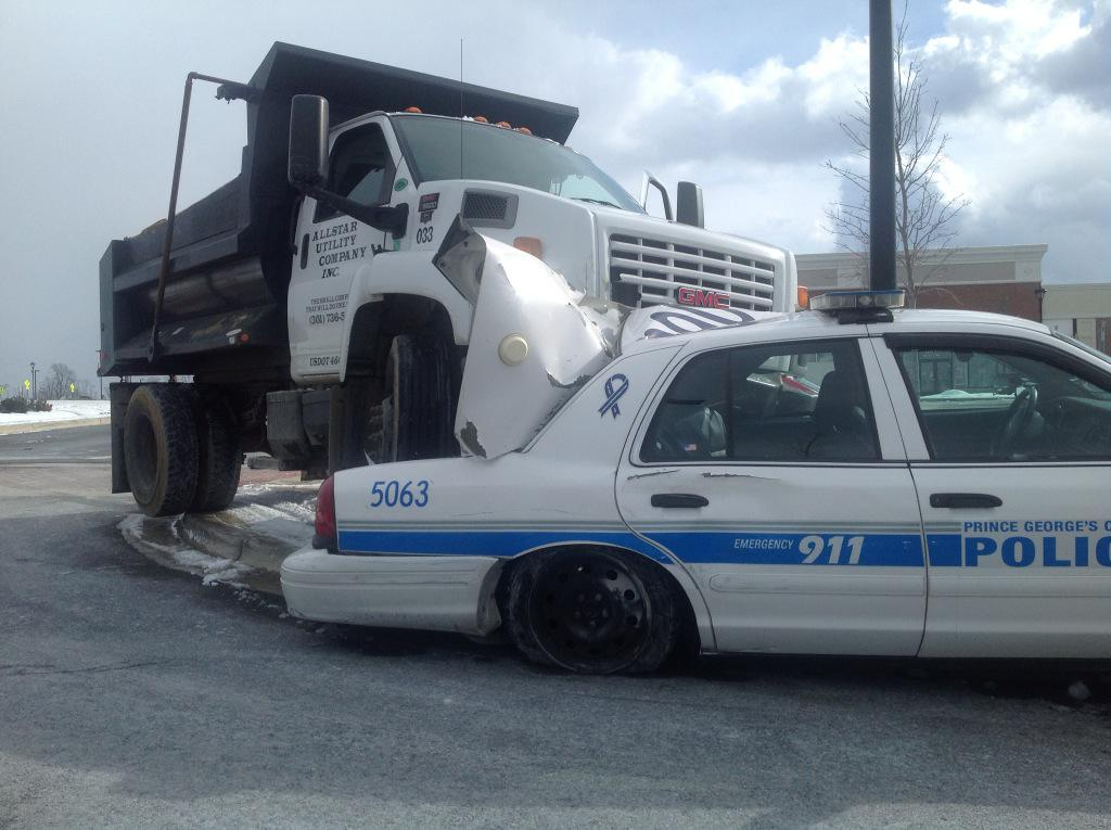 Dump truck driver charged with attempted murder of 2 police officers
