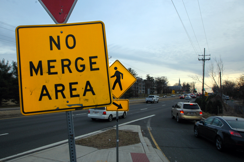 Worst merge lanes in the D.C. area