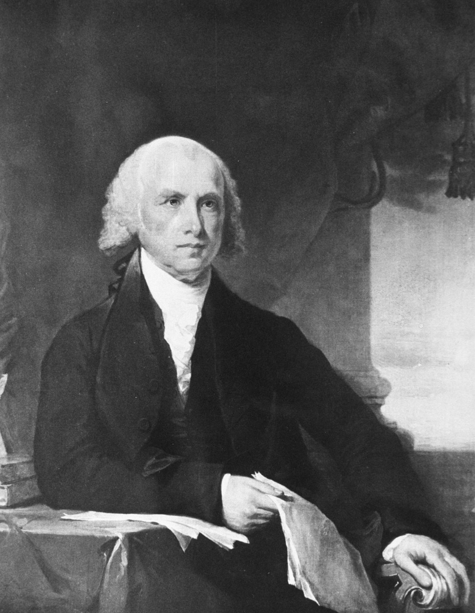 377869 04: Portrait of 4th United States President James Madison. (1809-1817) (Courtesy of the National Archives/Newsmakers)