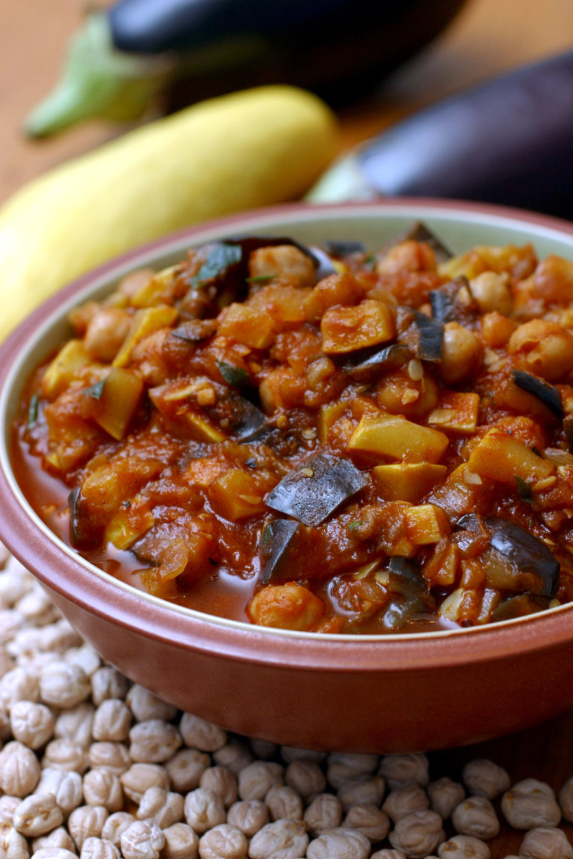 **  FOR USE WITH AP WEEKLY FEATURES ONLY** Lebanese Vegetable Stew With Chickpeas is a perfect cool-weather dish, with plenty of substance and flavor in its use of vegetables including eggplant and squash. The recipe is from ``Feast From the Mideast'' by Faye Levy. (AP Photo/Larry Crowe)