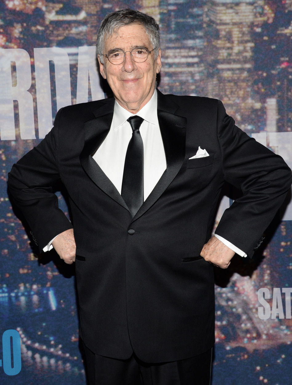 Elliott Gould arrives at the Saturday Night Live 40th Anniversary Special at Rockefeller Plaza on Sunday, Feb. 15, 2015, in New York. (Photo by Evan Agostini/Invision/AP)