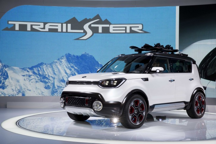 The Kia Trail Ster Concept Car Is Unveiled During Media Preview Of Chicago Auto Show At Mccormick Place In On Thursday Feb 12
