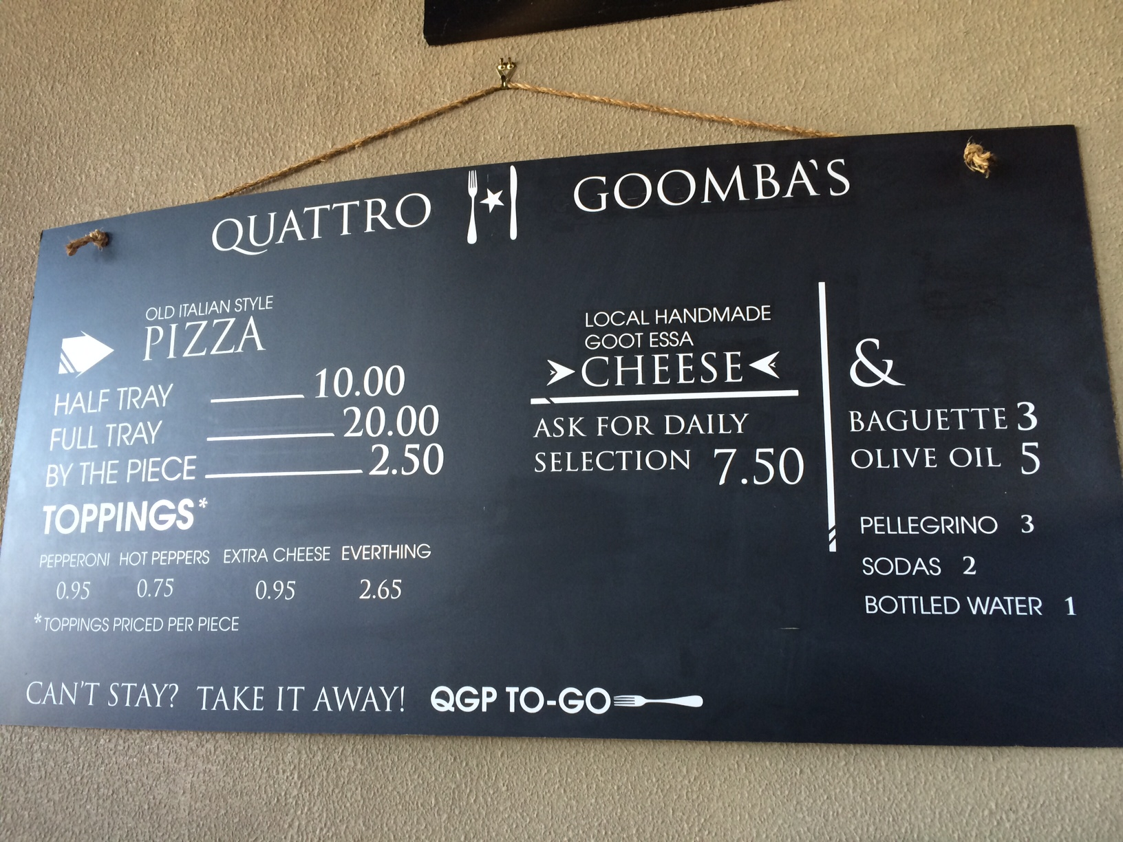 There are two places in which Quattro Goombas customers can enjoy wine: the tasting room and the pizza shop/production building. (WTOP/Rachel Nania)