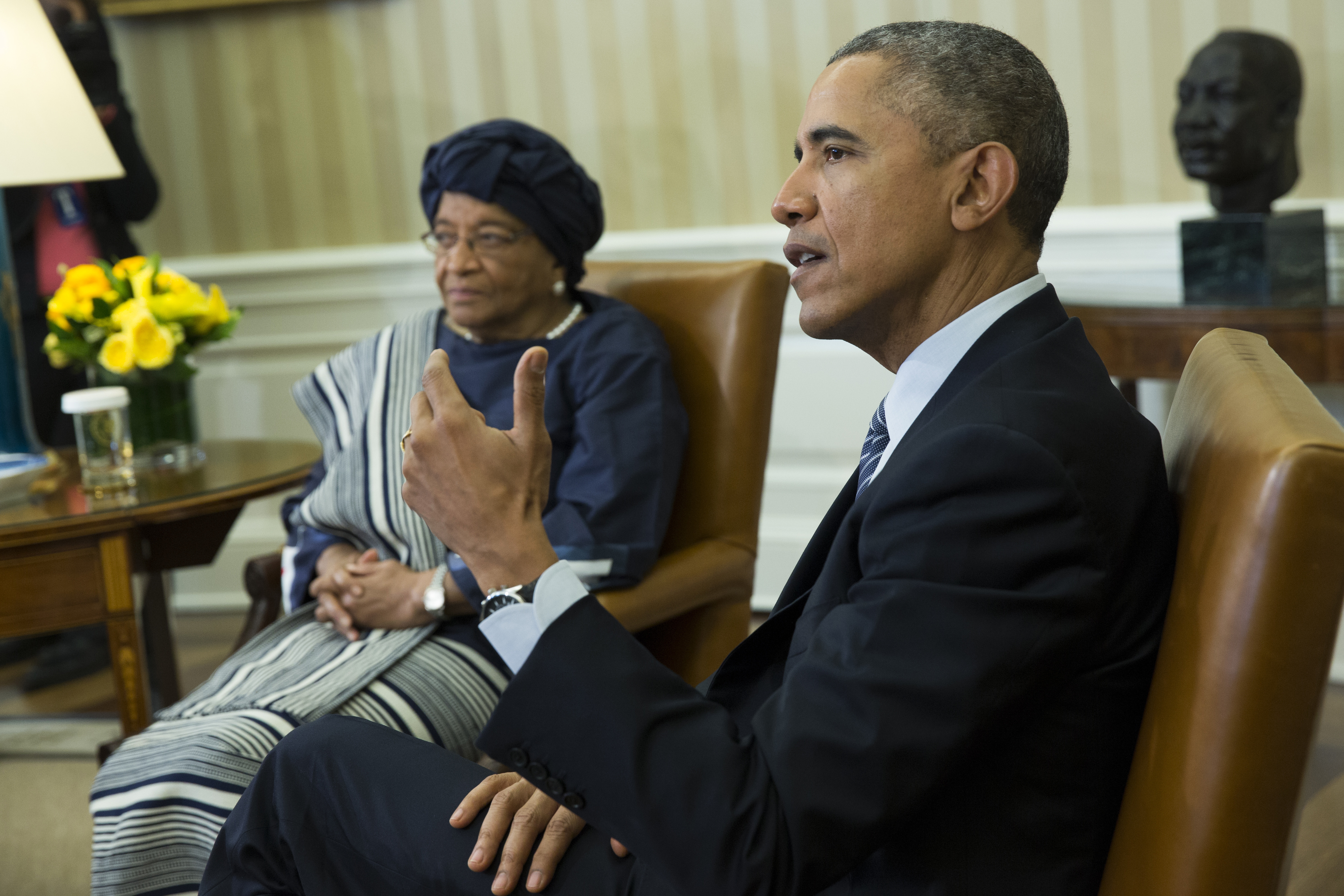 obama liberian president sirleaf discuss ebola recovery wtop