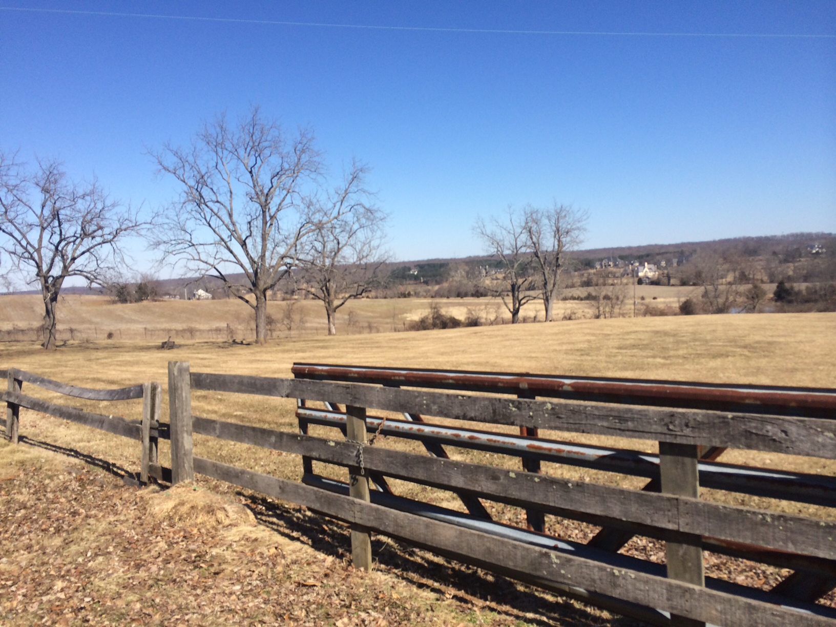 The winery overlooks the foothills of Virginia's horse country. (WTOP/Rachel Nania)