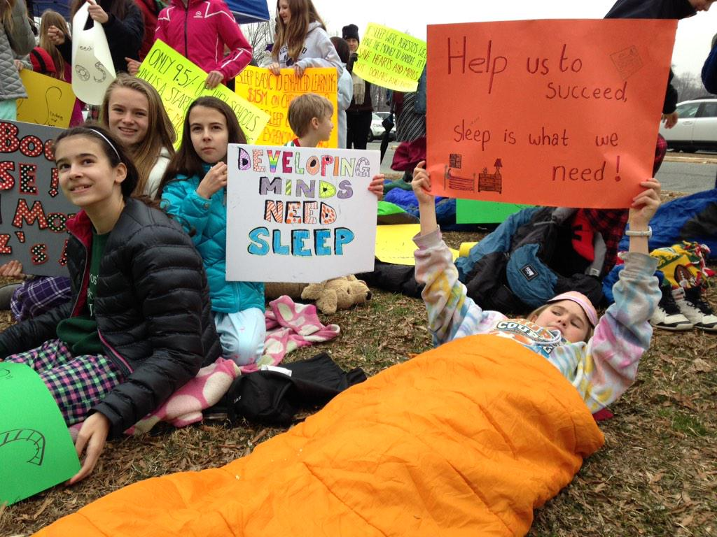 Montgomery County students, parents rally for later start times