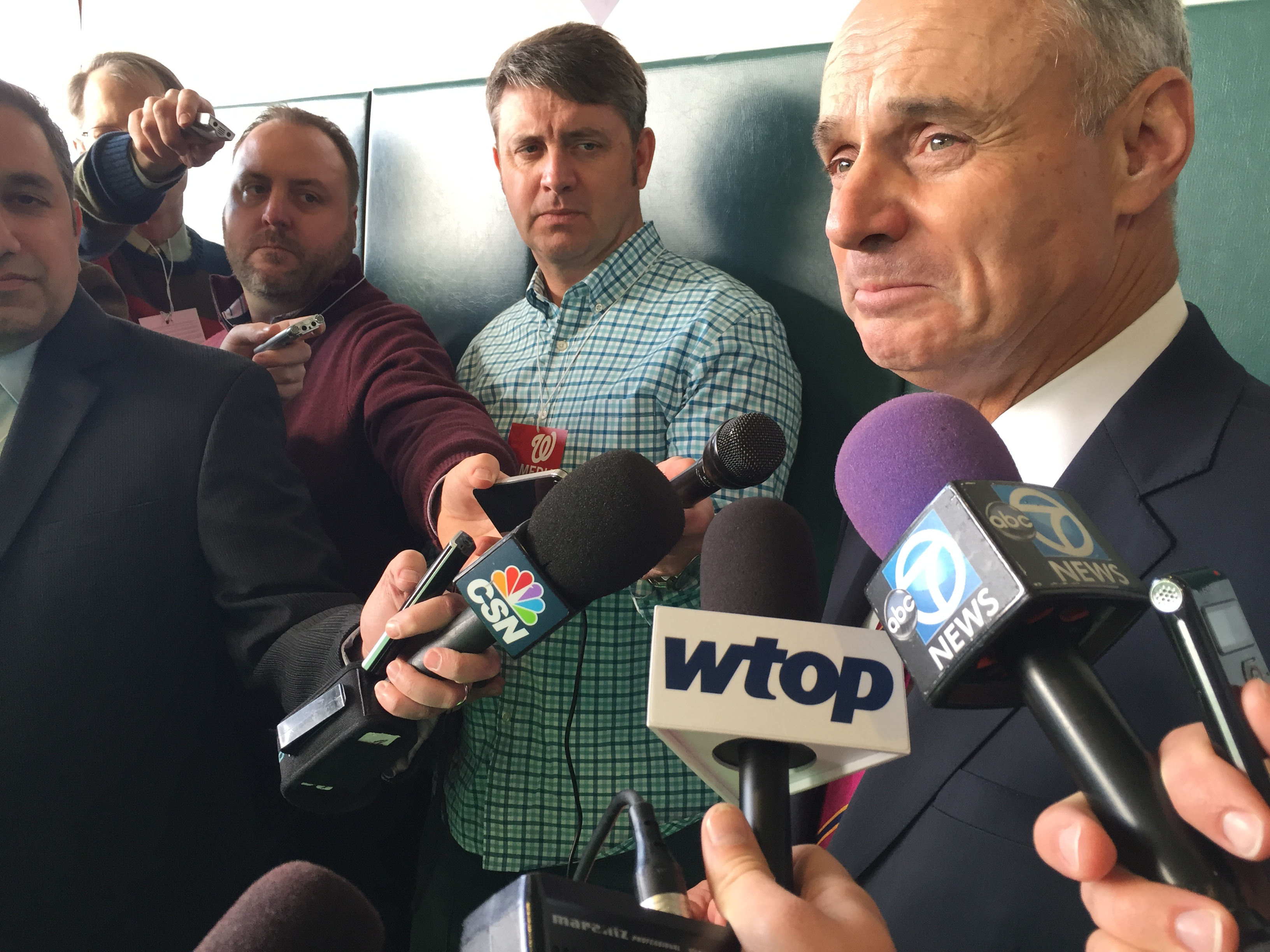 MLB Commissioner Robert Manfred tours Nationals Youth Baseball Academy