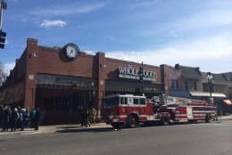 D.C. firetruck gas leak Wisconsin Ave.