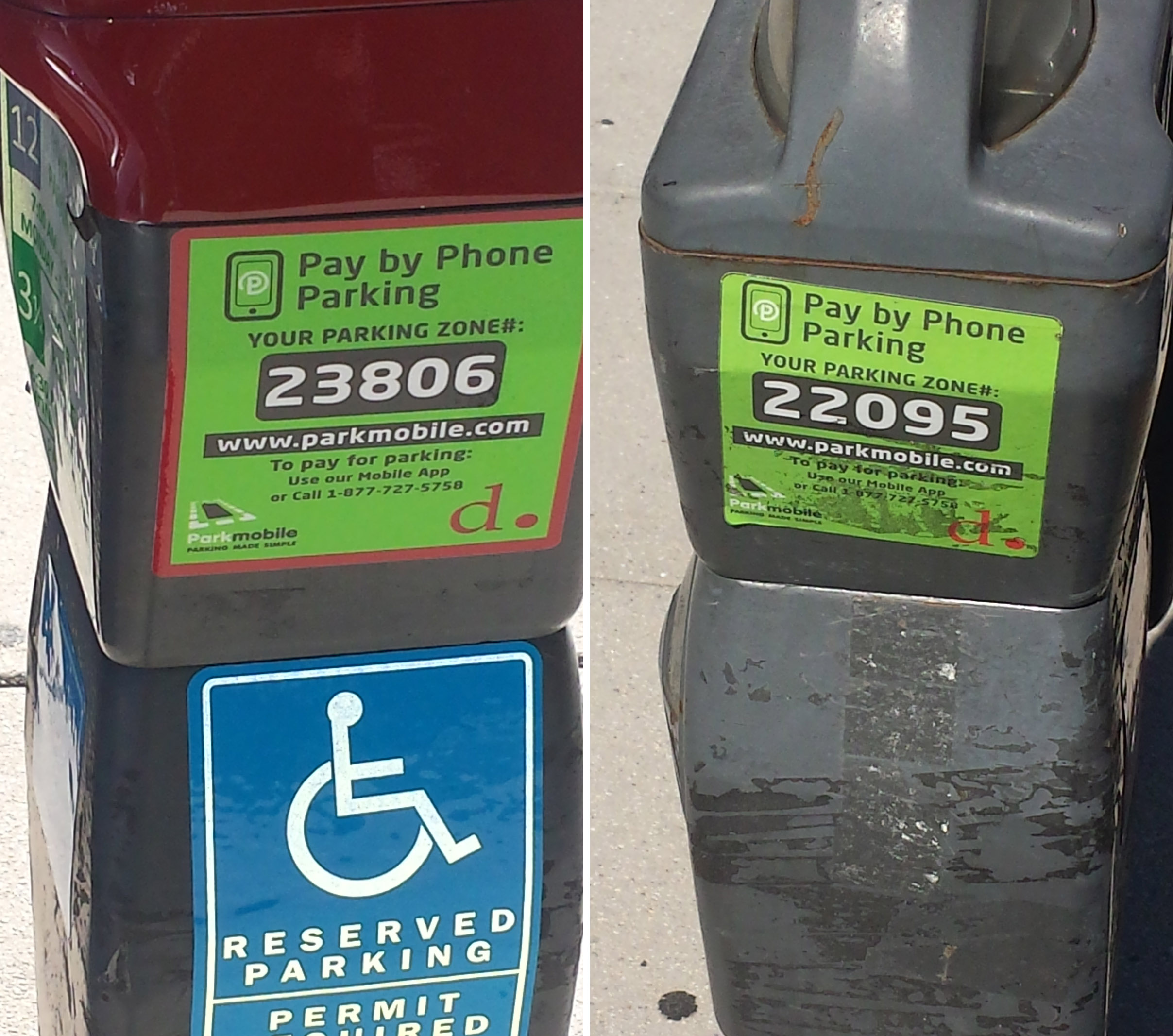 Red top meters confuse some ticket writers