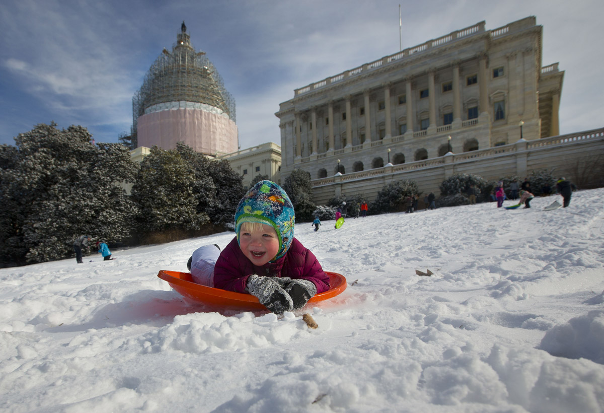 Norton pushing to allow sledding on D.C.'s famous hill