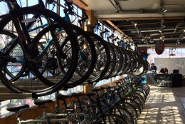 Inside the store that helped one man get back his stolen bike. (WTOP/Kate Ryan)