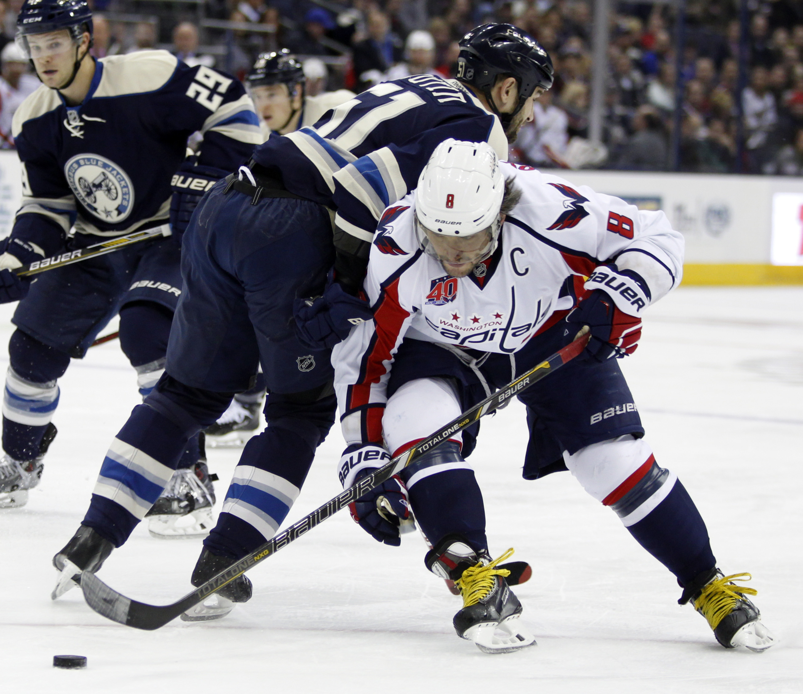 Ovechkin&39s 2 goals lift Capitals past Blue Jackets 5-3 | WTOP