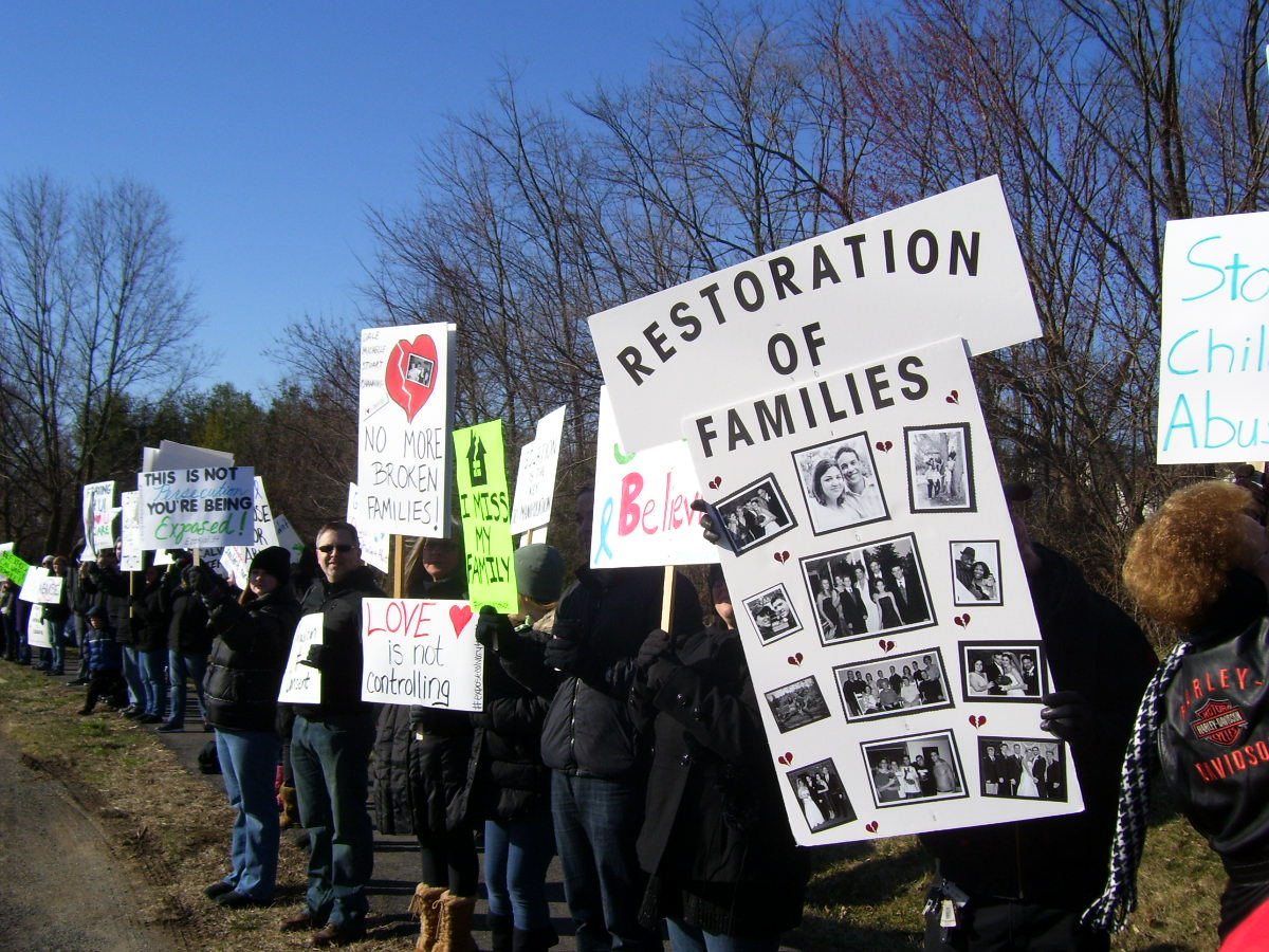 Protesters gather outside local church amid abuse allegations