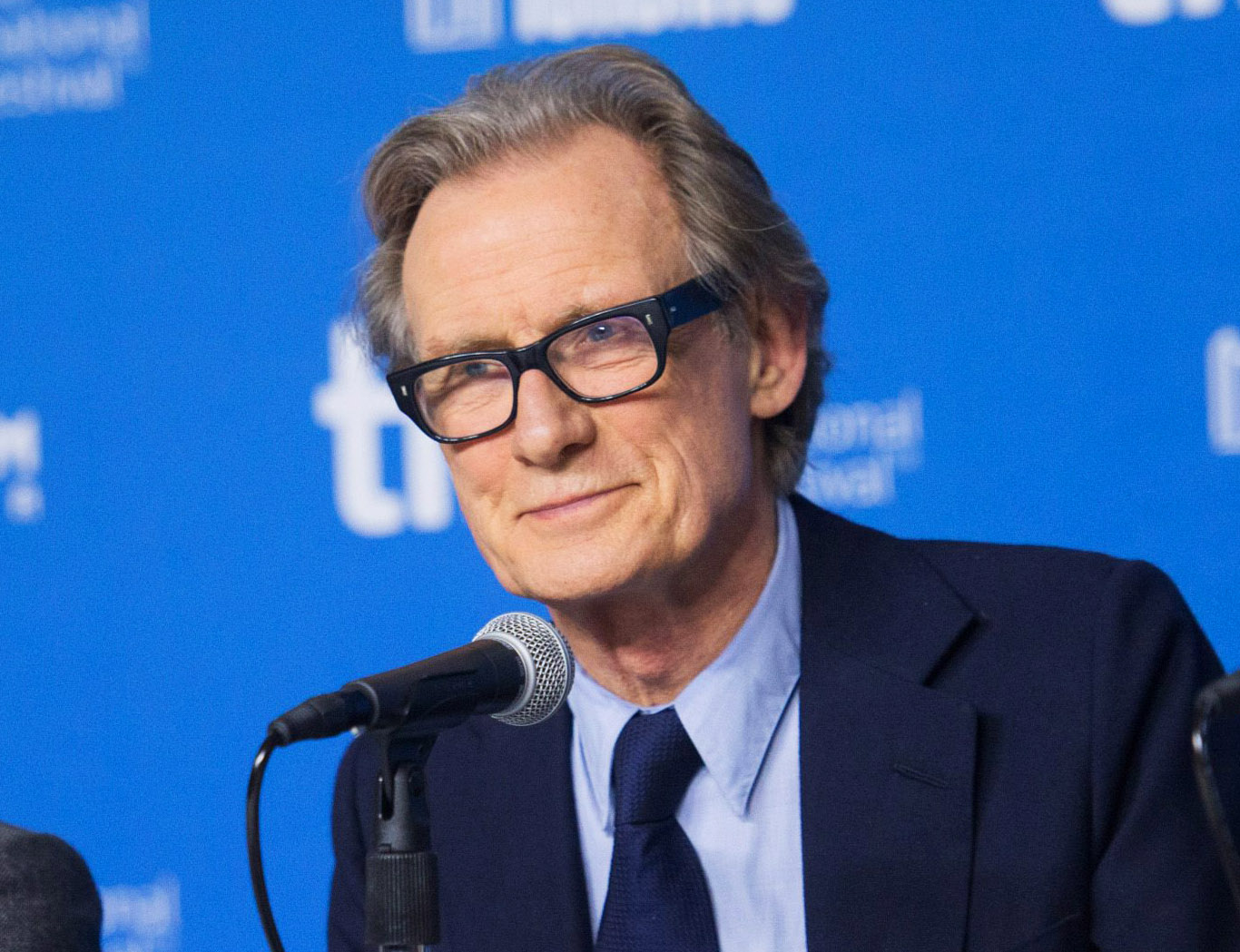 "FILE - In this Sept. 7, 2014 file photo, actor Bill Nighy attends a press conference for ""Pride"" at the 2014 Toronto International Film Festival in Toronto. Nighy is starring in a new Broadway revival of David Hare's ""Skylight,"" starring opposite Carey Mulligan. It's his first return to the New York stage since 2006 and he admits to some nerves. (AP Photo/The Canadian Press, Hannah Yoon, File)"