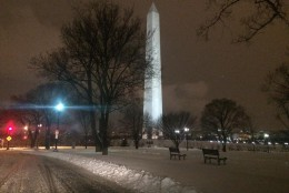 The Washington Monument at around 8 p.m. Thursday, March 5, 2015. (WTOP/Mike Murillo)