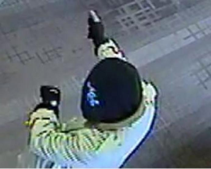 This image of a bank robber was taken inside a Bank of America bank branch in Vienna, Virginia on Jan. 20, 2015.  Investigators believe it was among a series of related bank robberies in the D.C. suburbs. (FBI)