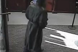 This image of a bank robber was taken inside a BB&T bank branch on Arlington Boulevard in Fairfax, Virginia on Jan. 16, 2015.  Investigators believe it was among a series of related bank robberies in the D.C. suburbs. (FBI)