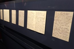 A letter from Dr. Charles Leale, the first doctor to attend to President Abraham Lincoln will be on display. (WTOP/Nick Iannelli )