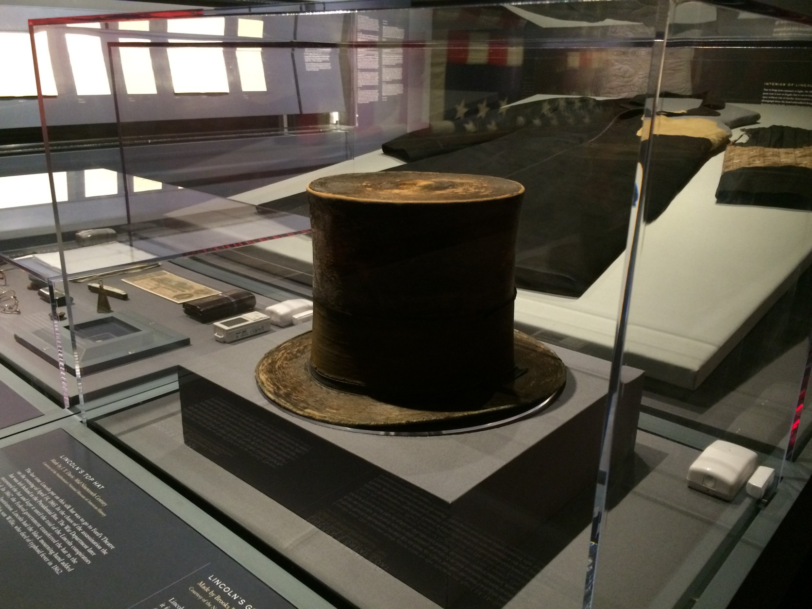 Lincoln's clothing, including his famous top hat, will be part of the exhibit. (TOP/Nick Iannelli)