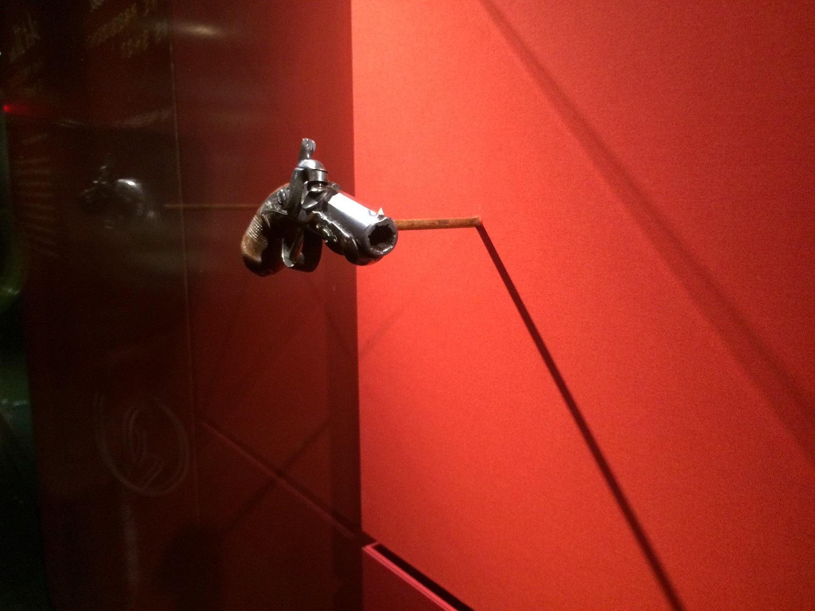 John Wilkes Booth's deringer pistol is the gun that changed history. (WTOP/Nick Iannelli)