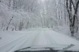Brown Ridge Road going toward Ellicott City.