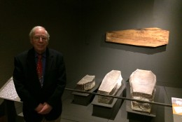 three historic coffins in St. Mary's