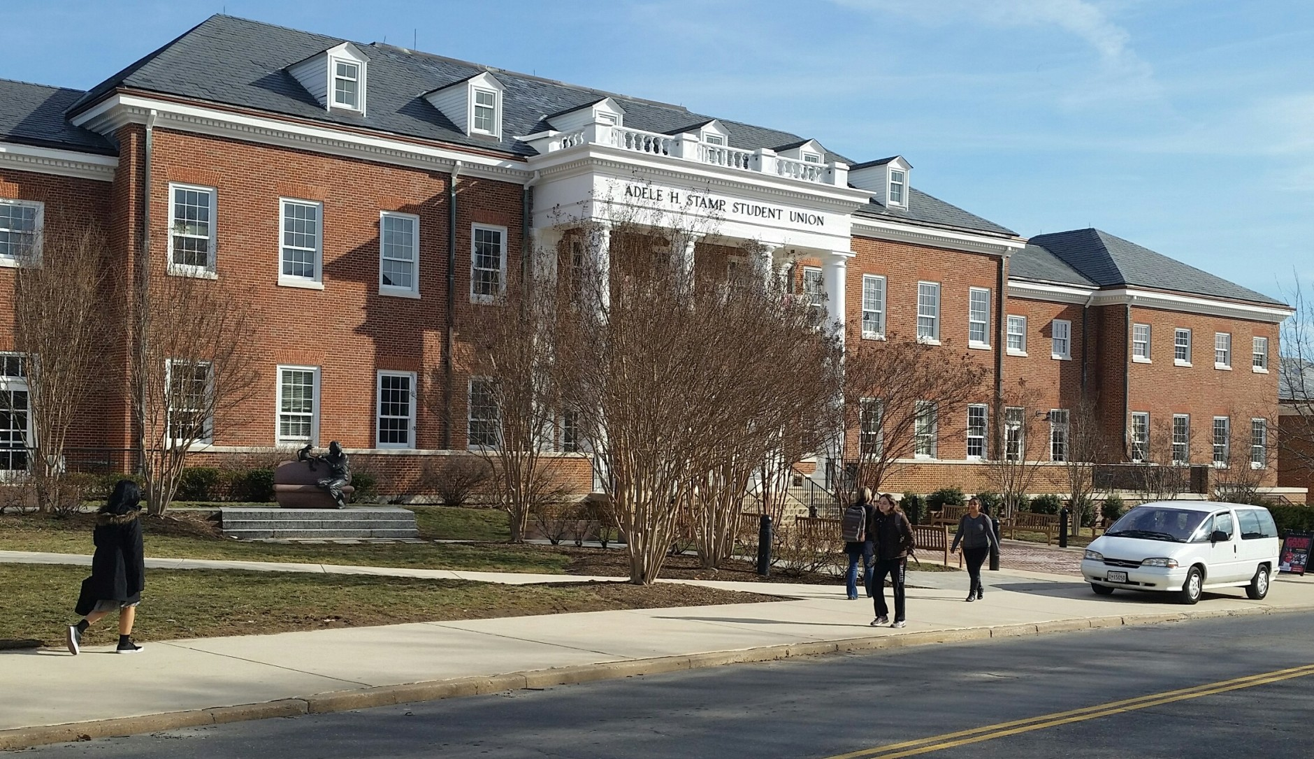 The University of Maryland College Park campus is embroiled in a controversy over a racist and sexist email sent by a student last year. (WTOP/Kathy Stewart)