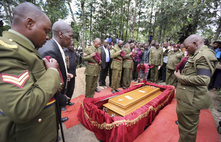 Kenya: Heroa s burial for officer who helped stop attack