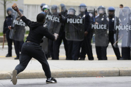 A new study looks at who is to blame for violent police encounters in Maryland. (AP Photo/Patrick Semansky, file)