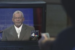 The Foo Fighters video features a clip of Jim Vance laughing uncontrollably during a NBC Washington newscast. (YouTube)
