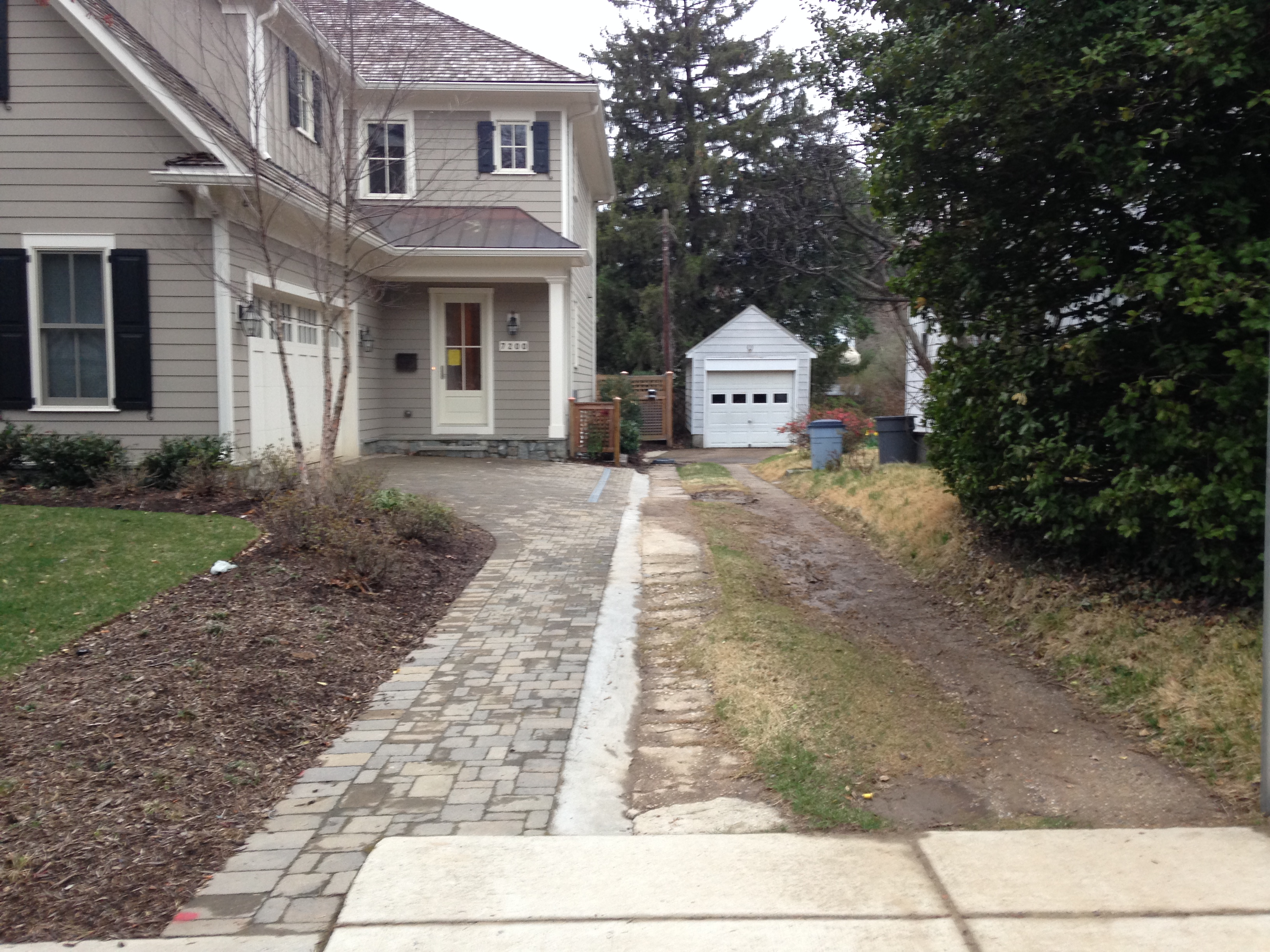 Raves And Nays After Shared Driveway Is Finally Paved