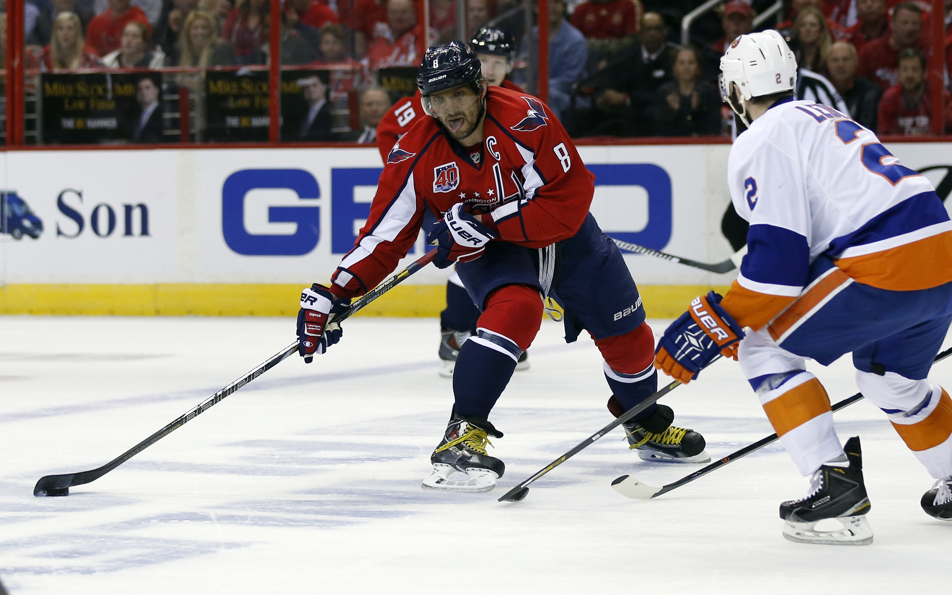 sports capitals islanders hook first action after break
