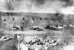 """FILE - This 1915 file photo, shows Armenian victims of the massacres in Turkey. The Nazi genocide of European Jews is widely commemorated in Israel and etched deeply into the psyche of a country founded in its aftermath. But when it comes to the mass killing of Armenians by Ottoman Turks during World War I, which historians have called the """"first genocide of the 20th century,"""" Israel has largely stayed silent. Fearing repercussions from its former ally Turkey and wary of breaking ranks with American policy, Israel has refrained from calling the mass killings a genocide. (AP Photo, File)"""