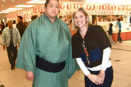 One activity Hayes highly recommends is attending a sumo wrestling tournament, called a sumo basho. The wrestlers come in the same entrance as the crowd, which is nice for fans who want to snap a picture. (Courtesy Laura Hayes)