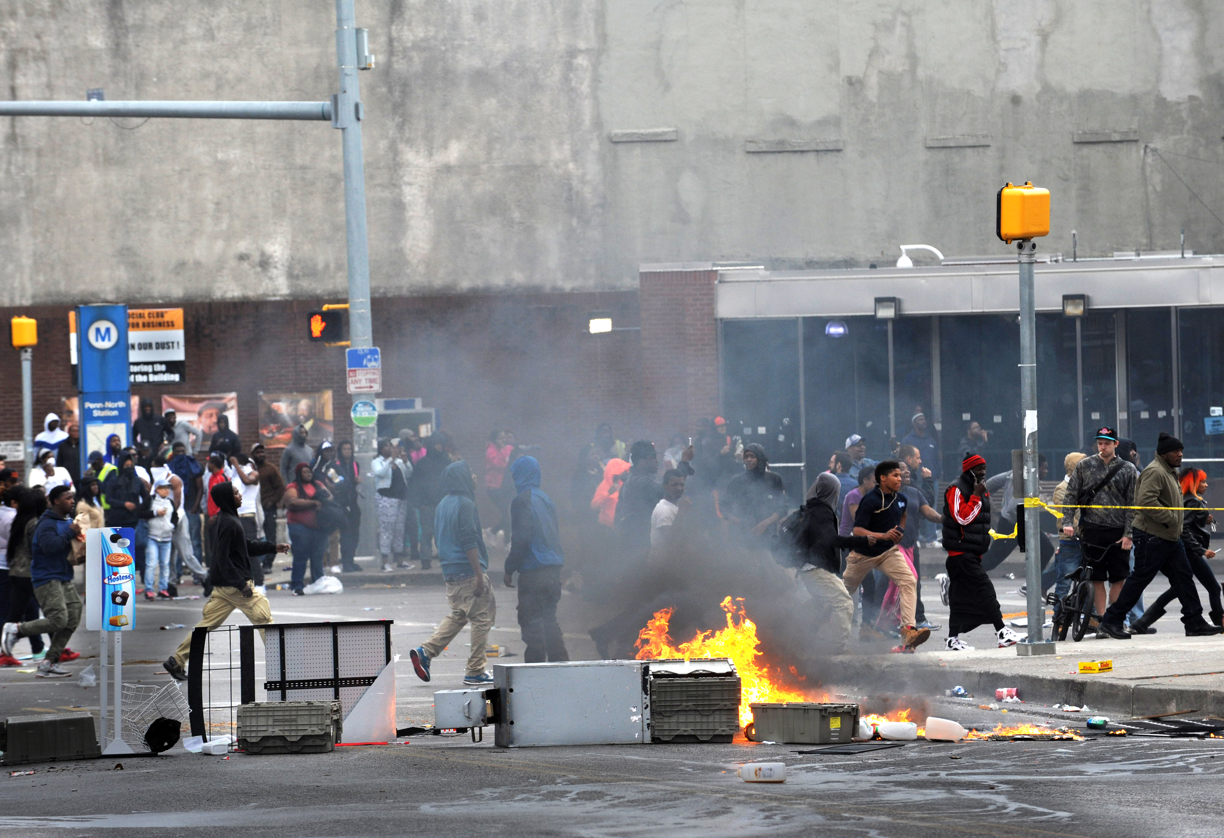 Surveillance video offers closer look at riot outbreak in Baltimore