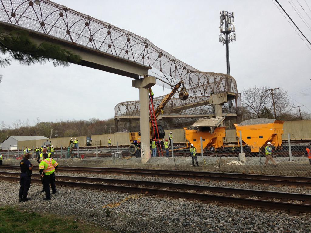 Photos: Bridge collapses onto Prince George's Co. Metro, MARC tracks