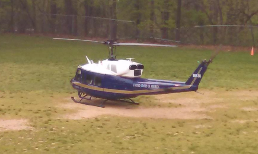 Military chopper makes emergency landing at Va. school
