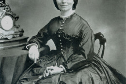** FILE ** Clara Barton, who is well-known for her service on the battlefields during the Civil War and for her work establishing the American Red Cross, is seen in this undated black and white file photo. A virtual time capsule of Barton memorabilia was discovered by a government carpenter in 1997.  (AP Photo/National Archives)