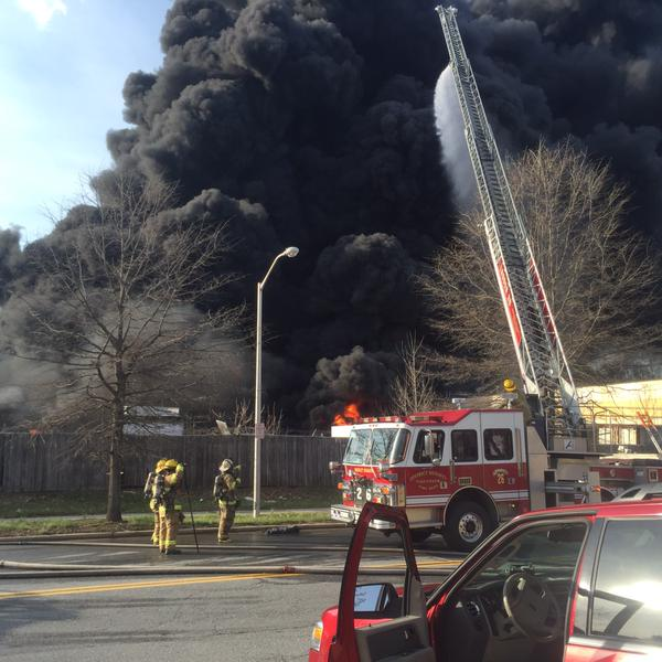 Photos: Smoke from fire in Prince George's County fills skyline