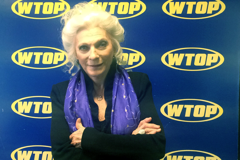 Judy Collins visits the Glass Enclosed Nerve Center. (WTOP/Jason Fraley)