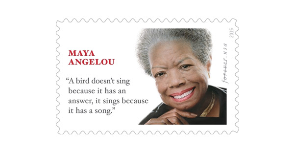 Maya Angelou stamp features quote from another writer