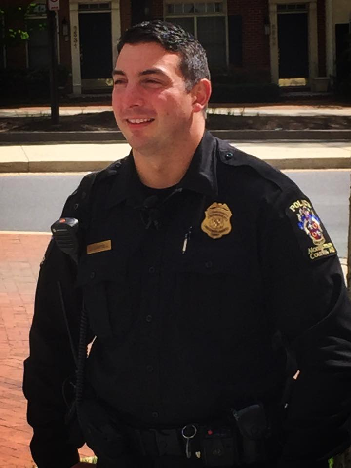Officer Dan Campbell helped deliver a baby overnight -- in a car. (Montgomery County Police Department)