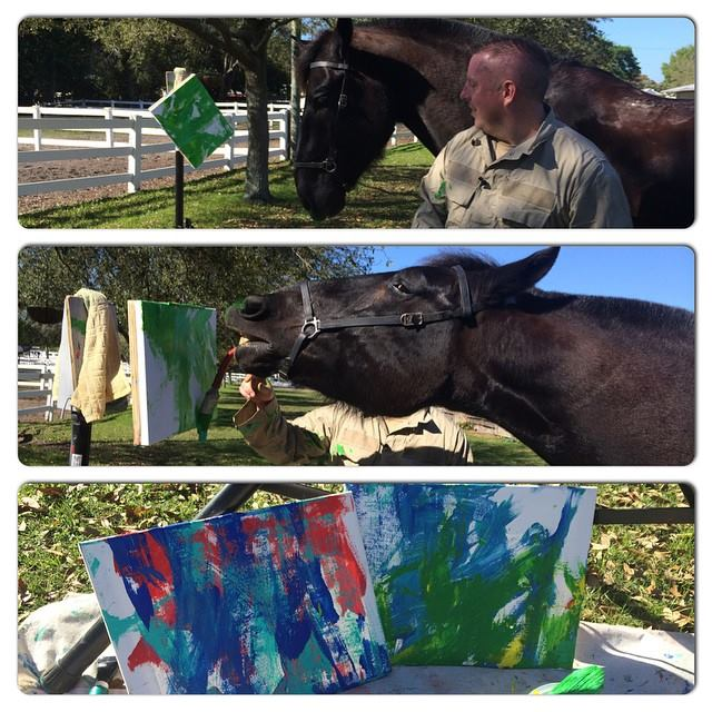 Florida police horse has penchant for painting (Video)