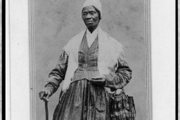 "A portrait of Sojourner Truth circa 1864. The caption reads ""I sell the shadows to support the substance."" (Library of Congress)"