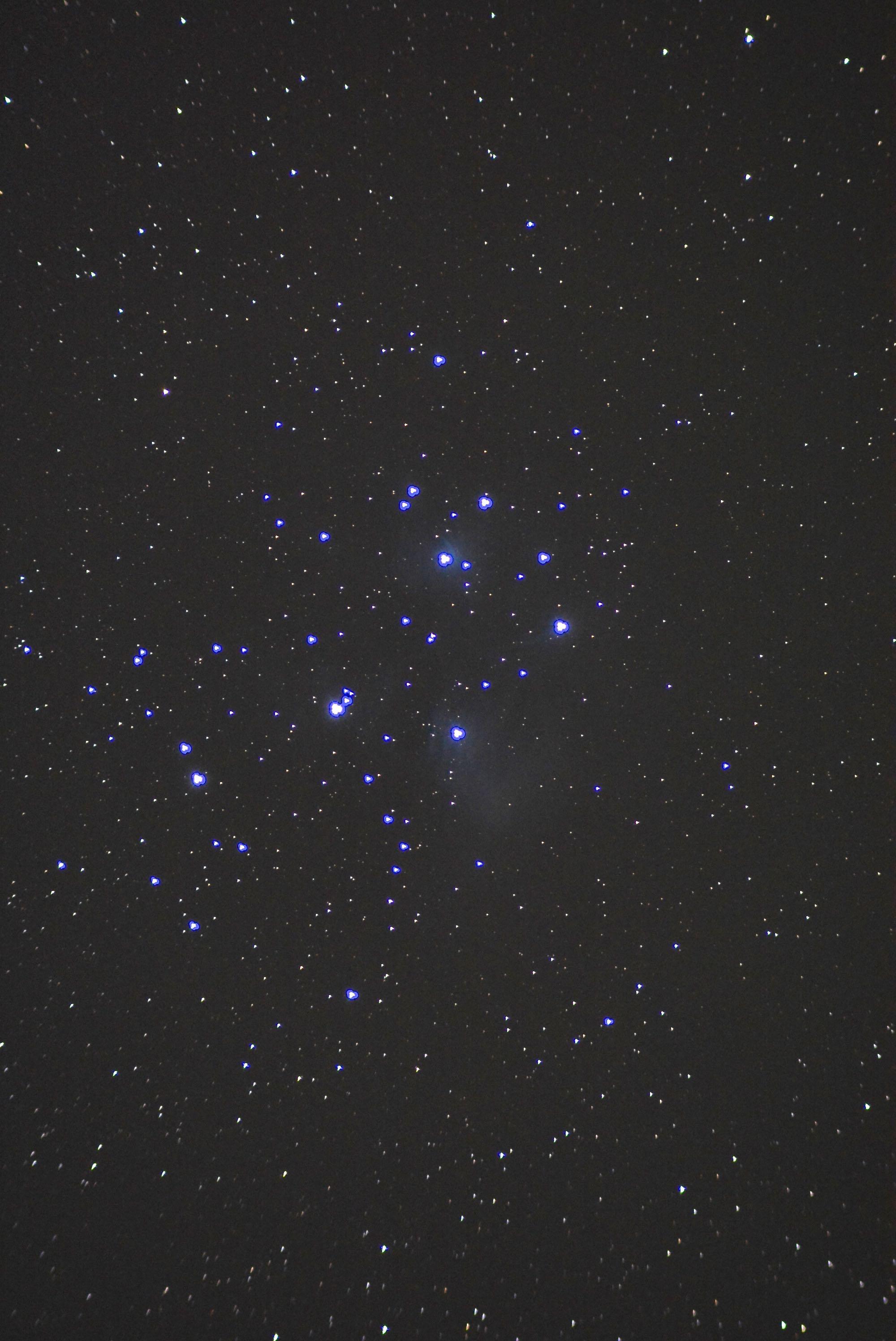 Venus prepares to pass Pleiades