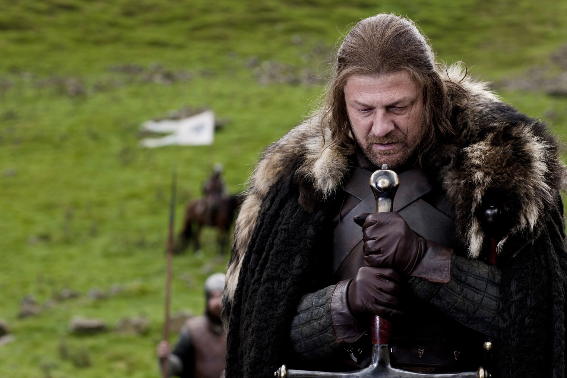 "Actor Sean Bean (''Lord of the Rings,'' ""Game of Thrones"") is 58 on April 17.  In this publicity image released by HBO, Sean Bean portrays Eddard Stark in a scene from the HBO series, ""Game of Thrones.""  The show was nominated Thursday, Dec. 15, 2011 for a Golden Globe award for best TV drama series.(AP Photo/HBO, Nick Briggs)"