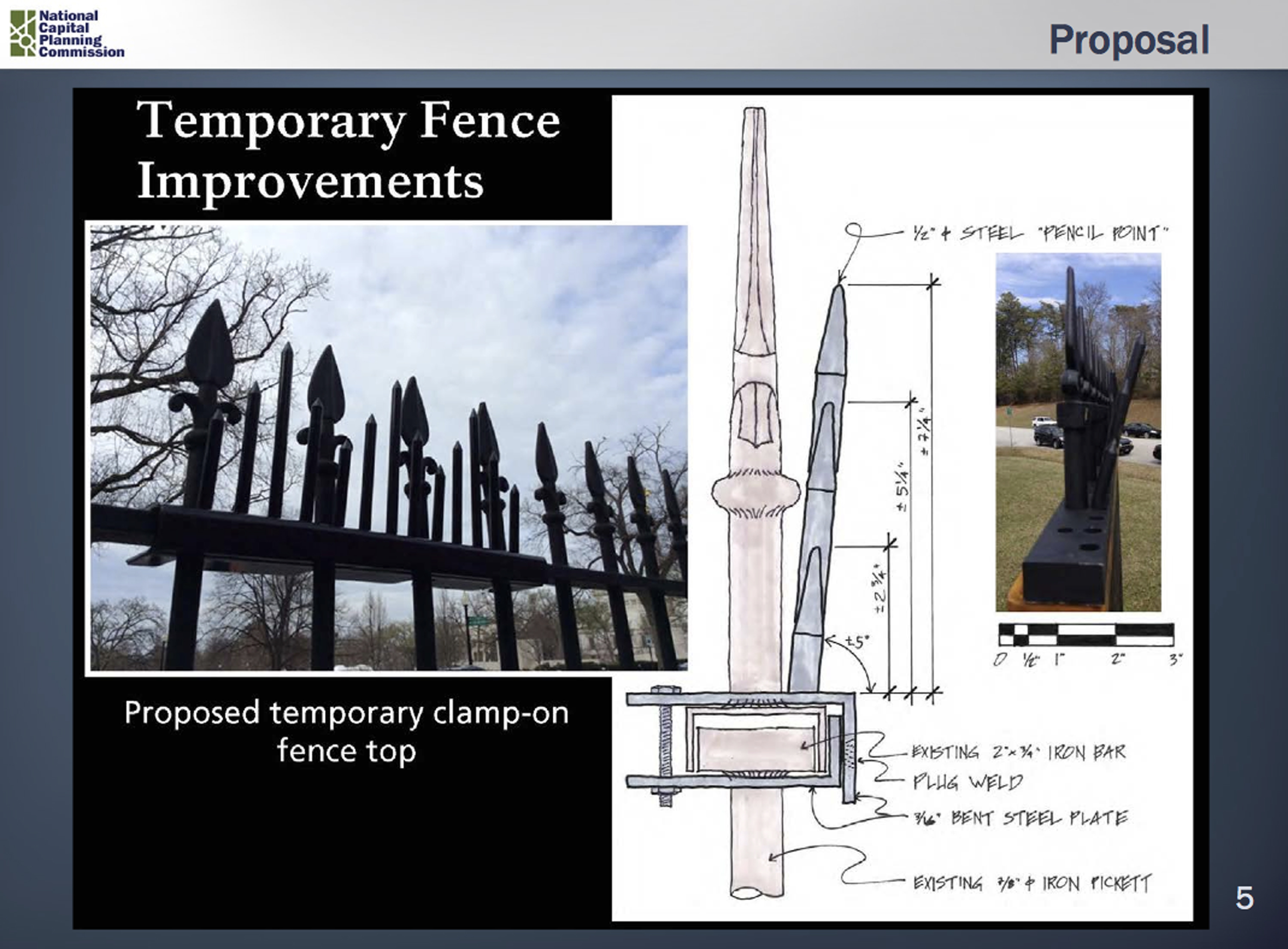 Secret Service will add metal spikes to White House fence