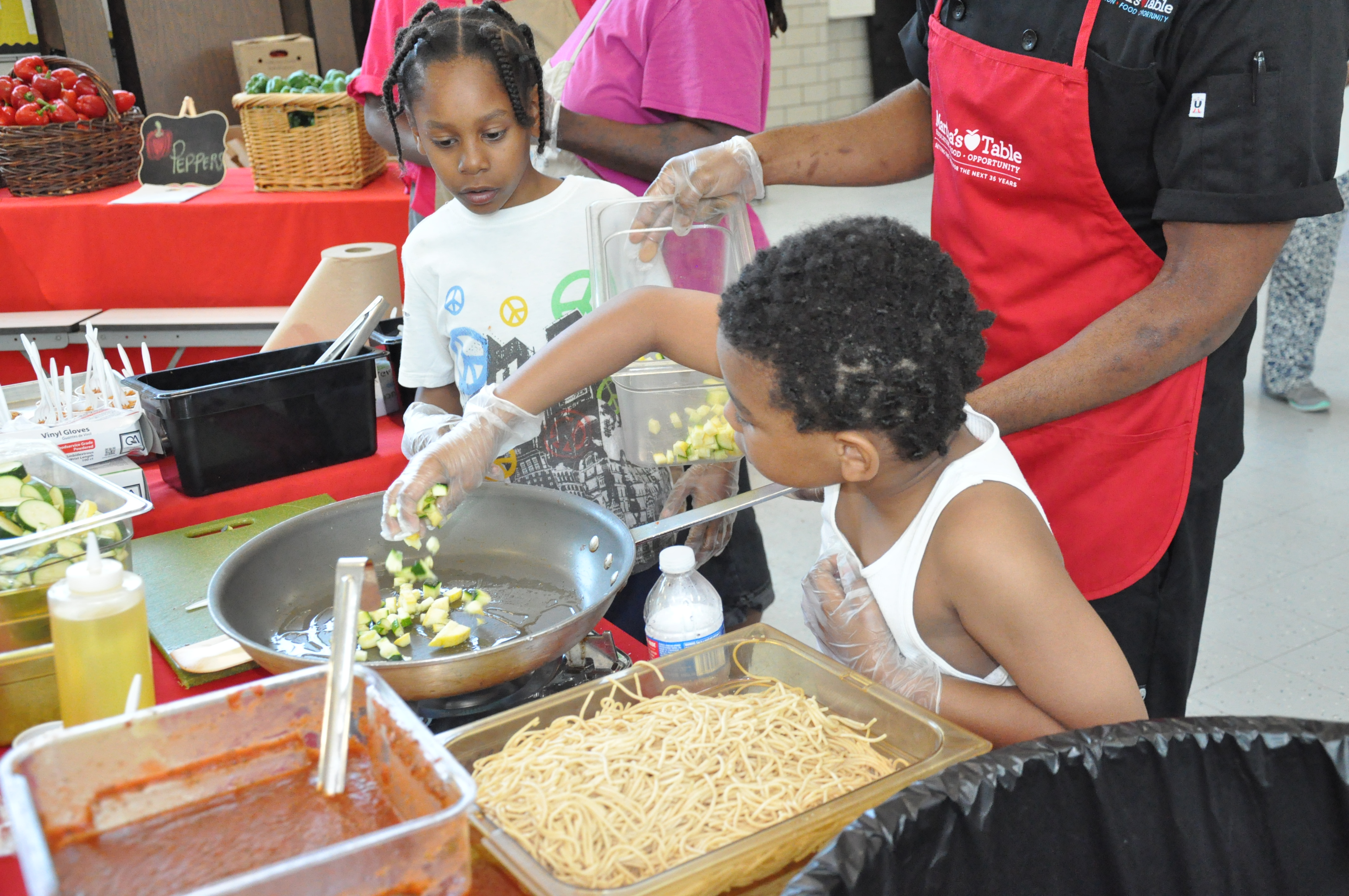 Bringing food to the families: Bustling markets inside D.C.'s elementary schools