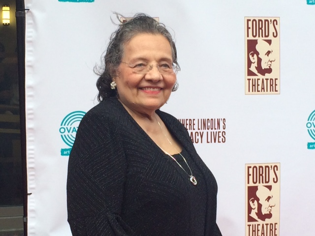 """Diane Nash was presented with the Lincoln Medal for her work as a civil rights activist. A news release from the Ford's Theatre Society stated that her """"extraordinary character, service and life work reflects Lincoln's legacy of equality, wisdom and justice."""" (WTOP/Jason Fraley)"""