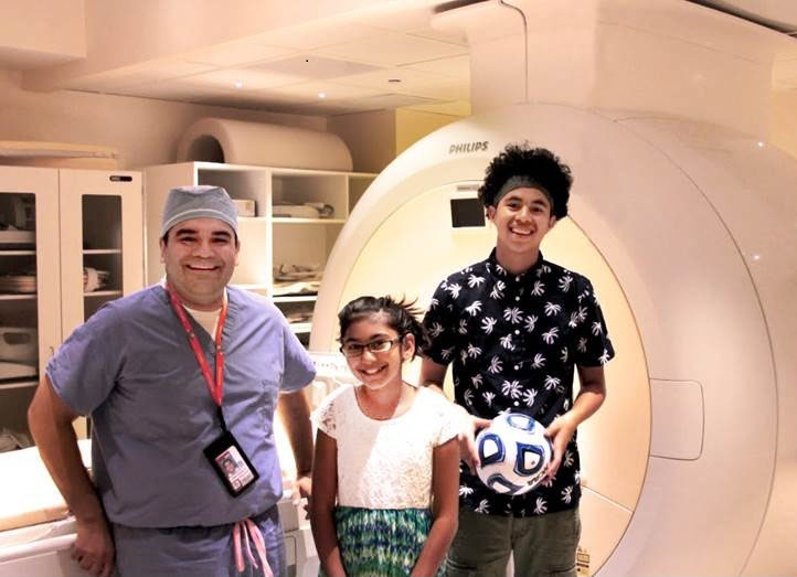 Local doctors destroy bone tumors in children without scalpels or needles